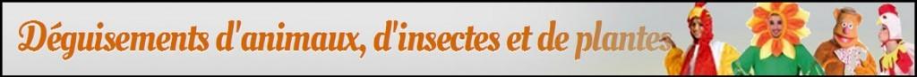 Déguisements d'Animaux d'Insectes et Plantes