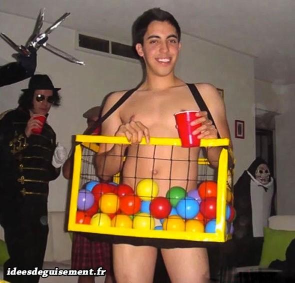 Déguisement homme bac à boules