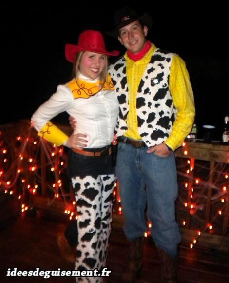 Déguisement en couple de cow-boy et cow-girl