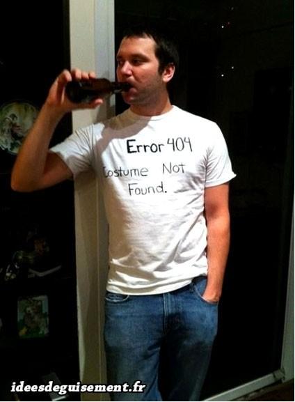 Déguisement lettre E d'Error 404
