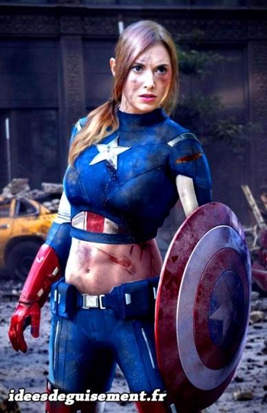Déguisement sexy de Captain America