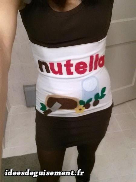 Costume sexy de Nutella