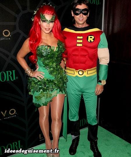 Costume de Poison Ivy et Robin