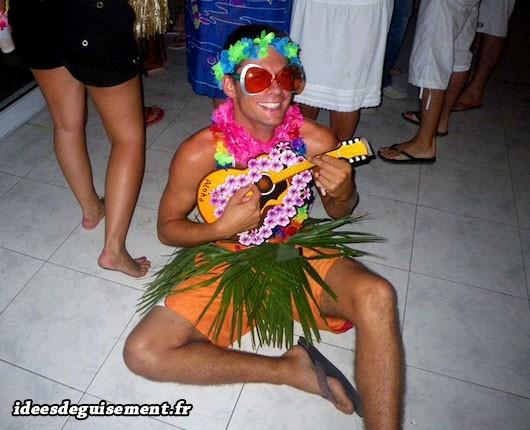 Déguisement tropical de Hawaï