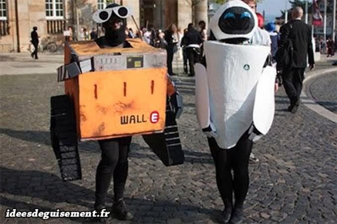 Déguisements de Wall-E & Eve