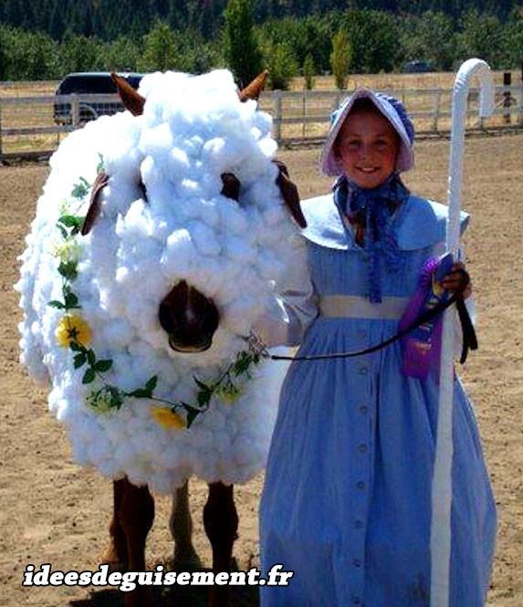 Déguisement de l'agneau de Pâques