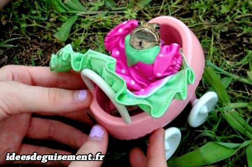 Déguisement de princesse pour grenouille