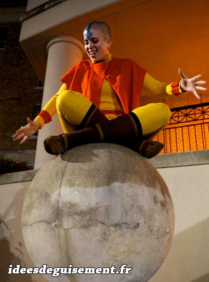 Déguisement orange d'Avatar le dernier maître de l'air