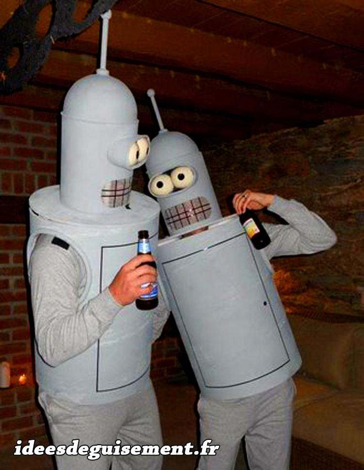 Bender de Futurama - Idees originales deguisement costume et cosplay dessin anime a deux en duo couple gris Halloween