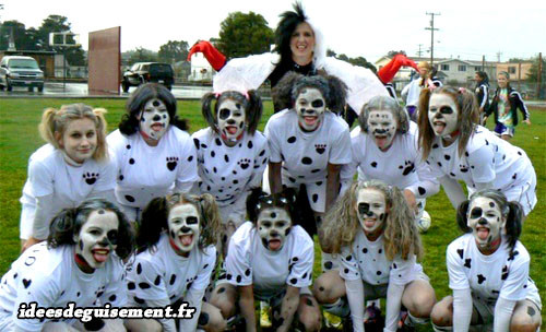 Déguisement en groupe de Cruella et des Dalmatiens