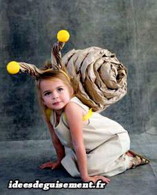 Déguisement d'escargot fait maison