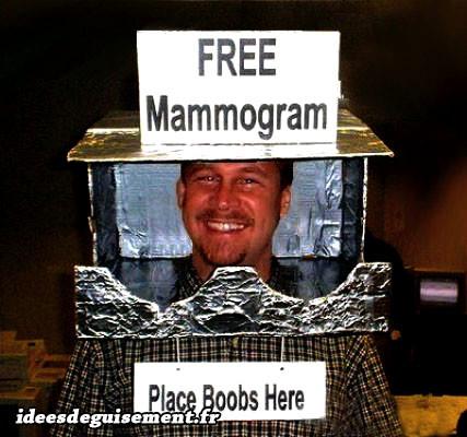 Déguisement de Mammographie