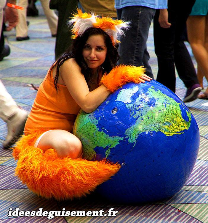 Déguisement du renard orange Firefox