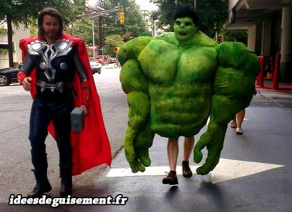Déguisements de Thor et Hulk du film Avengers