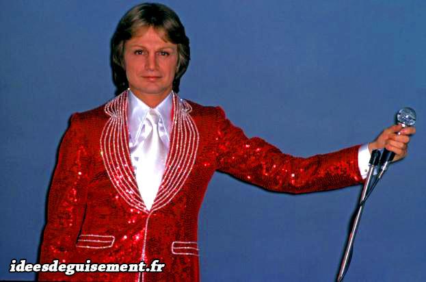 Veste rouge à paillettes de Claude François
