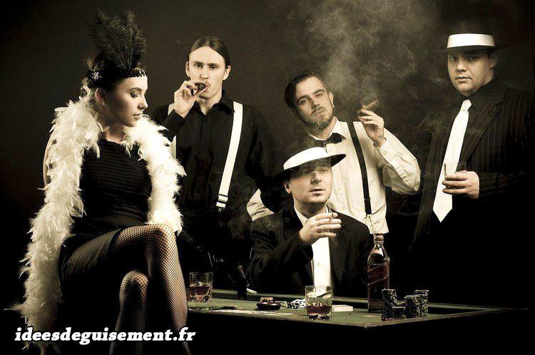 Déguisements Charlestion & Gangster des décennies 1920 & 1930
