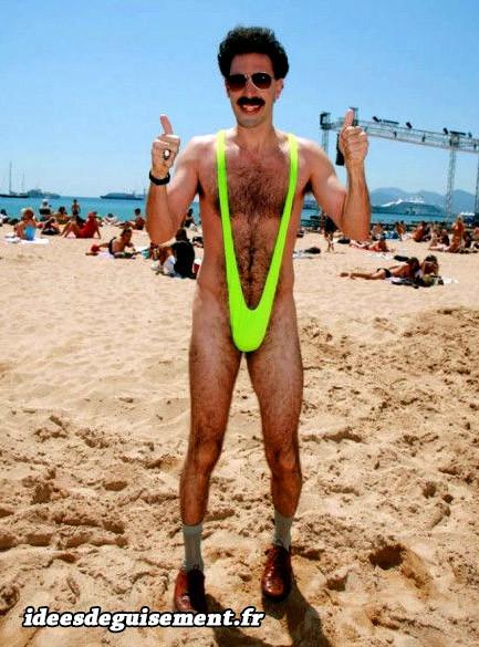 Mankini de Borat vert fluo