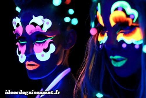 Maquillage phosphorescent