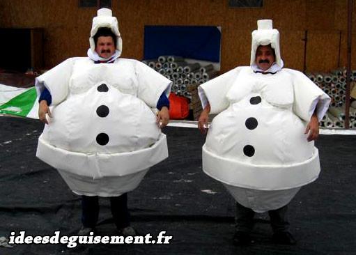 Déguisement de bonhomme de neige