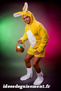 Déguisement de lapin jaune de Pâques