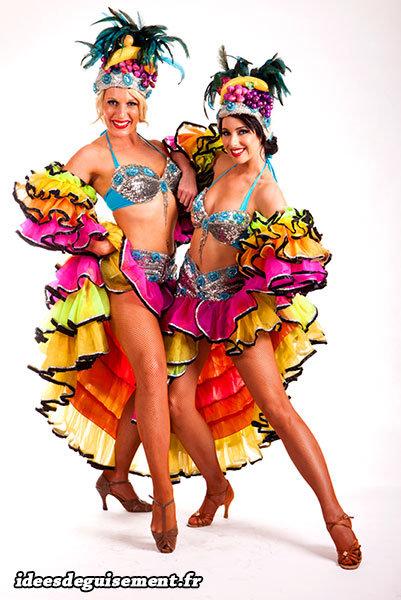 Costumes de danseuses Rumba pour le Carnaval de Rio