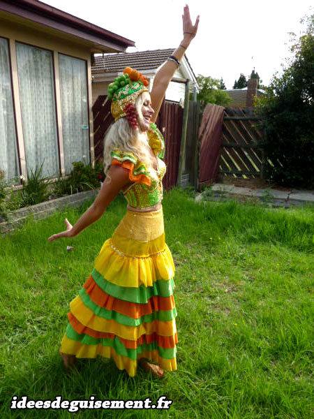 Déguisement de danseuse Samba pour le Carnaval de Rio