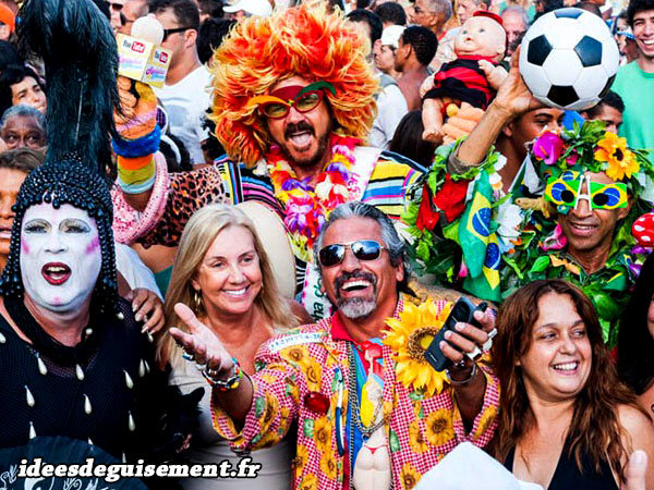 Costumes aléatoires au Carnaval de Rio