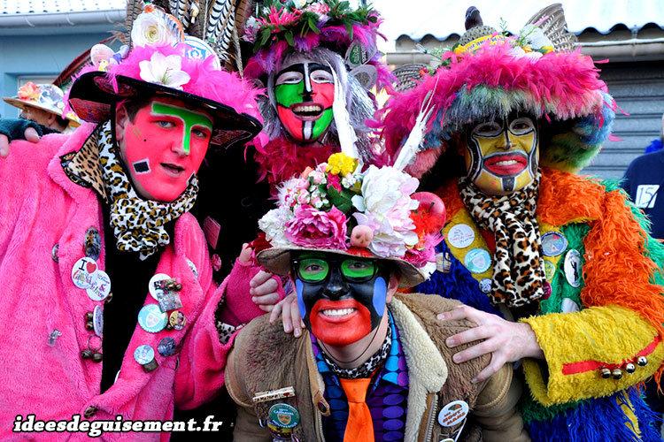 Déguisements créatifs typiques du carnaval de Dunkerque