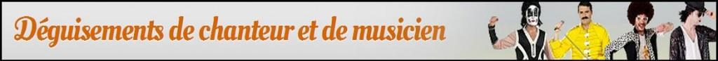 Déguisements de chanteurs et musiciens