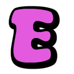 Fuchsia letter E
