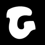 White letter G