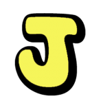 Yellow letter J