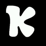 Letra K blanca
