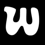 White letter W
