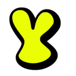 Yellow letter Y