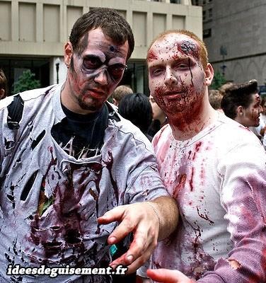 Déguisement et maquillage de zombie