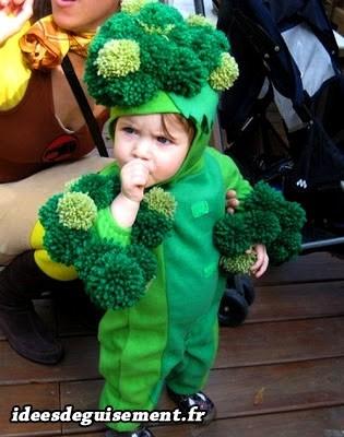 Déguisement garçon de brocoli