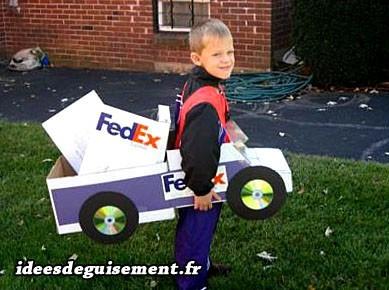 Déguisement enfant de livreur FedEx