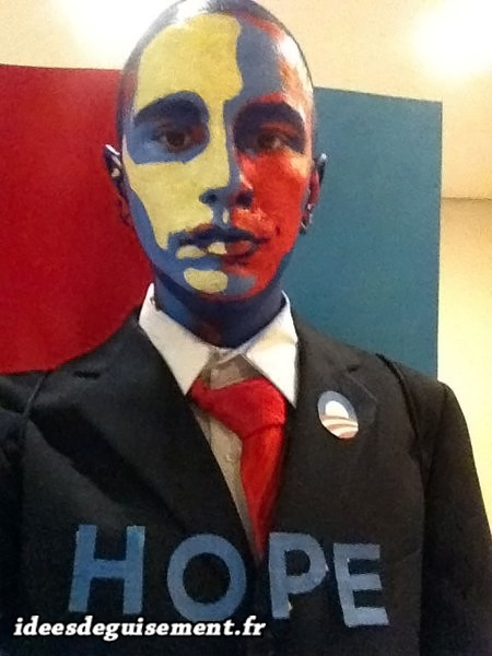 Déguisement de la campagne politique Barack Obama