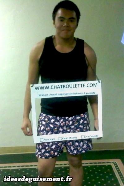 Costume ridicule de chat Chatroulette.com