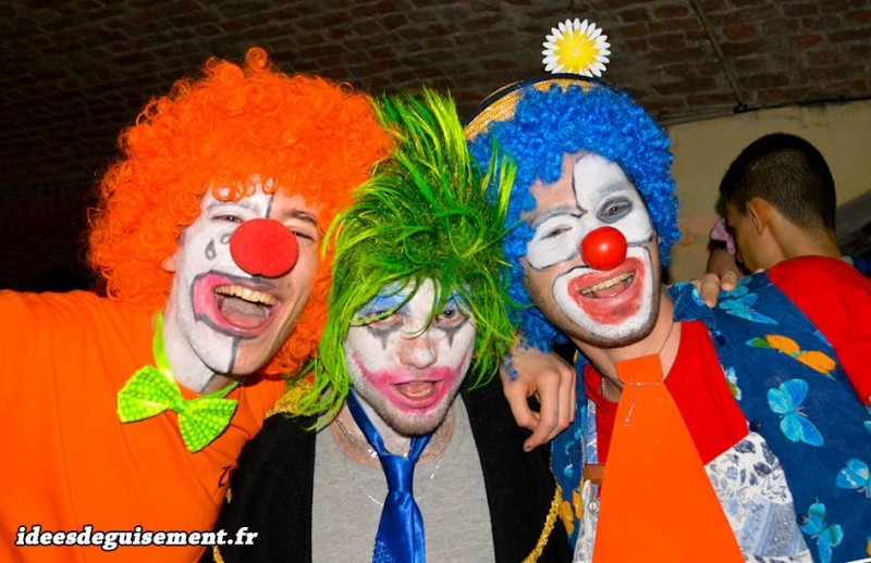 Déguisement de clown orange