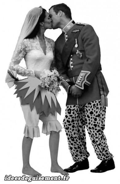 Costumes de mariés haut chic bas choc
