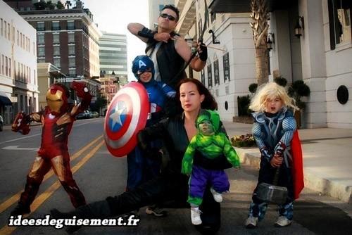 Déguisement familial des super-héros Avengers