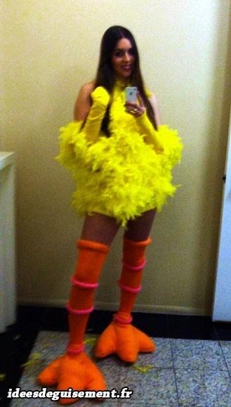 Costume de poussin jaune