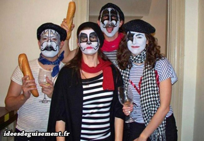 Maquillage du groupe French Kiss