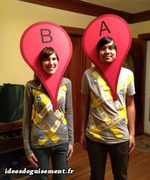Google-Map-itineraire-Idees-originales-deguisement-et-costume-en-duo-couple
