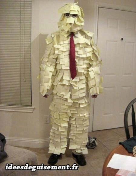 Déguisement d'homme Post-it