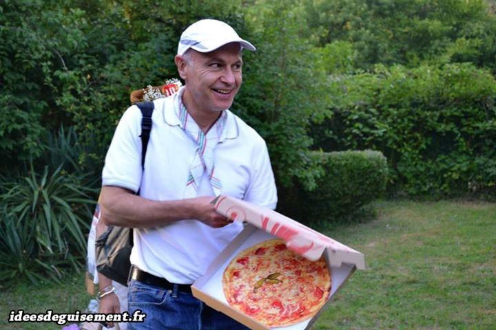 Déguisement de livreur de pizza italien