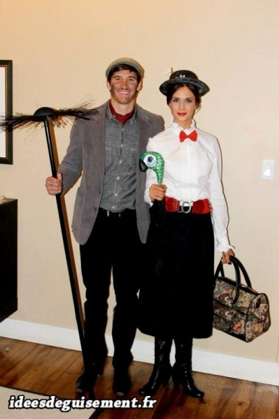 Mary-Poppins-et-le-ramoneur-Idees-originales-deguisement-et-costume-en-duo-film-disney