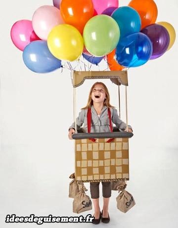 Déguisement fille de montgolfière ballons